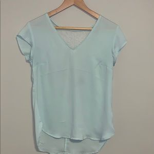 Dynamite Mint Green Blouse with Lace Back.